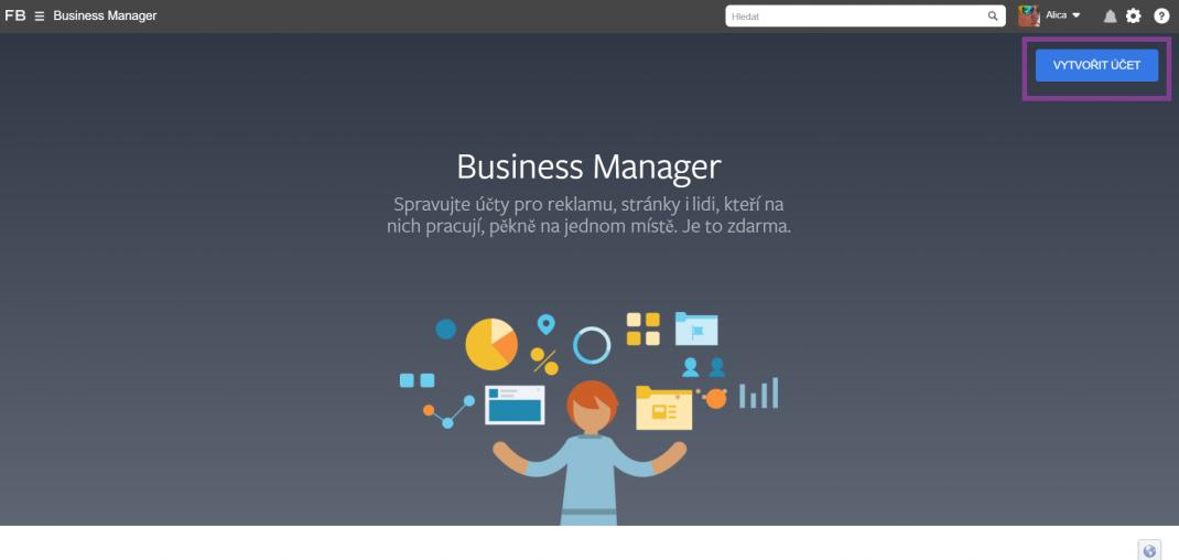 1-Ako si založiť Business manager-effectix