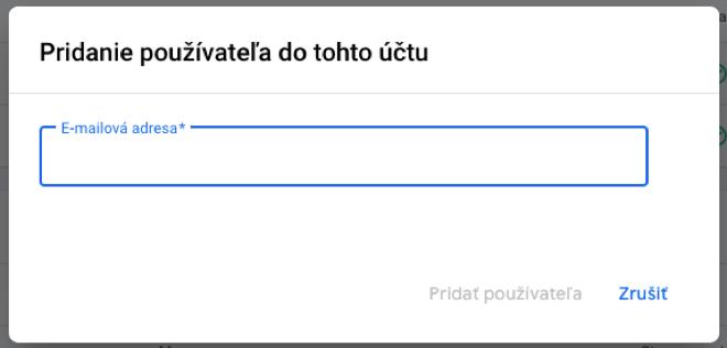 3_Google Merchant Center – Pridanie používateľa – E-mail