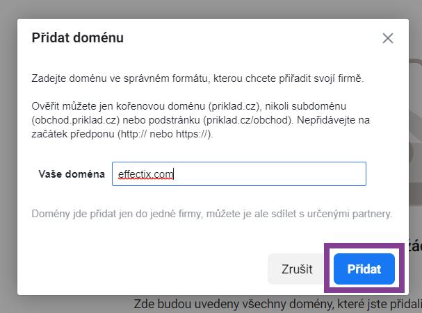 3 - overenie domeny