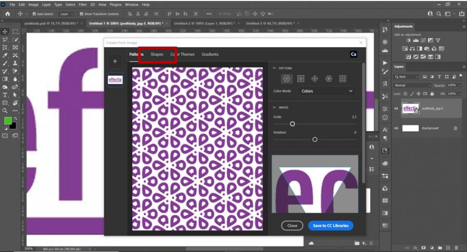 3-Photoshop-návod-preklik-z-pattern-na-shapes-effectix