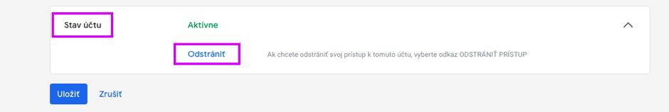 9_Google Merchant Center – Odstránenie svojho prístupu