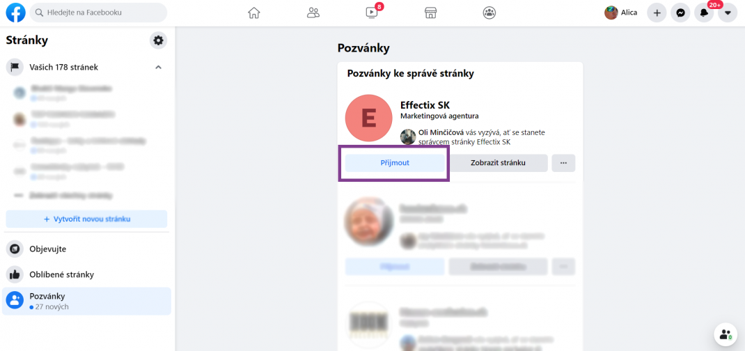Ako pridať Facebook stránku do Business managera-effectix